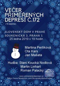Večer přiměřených depresí č.172 @ Slovenský dům v Praze | Hlavní město Praha | Česko