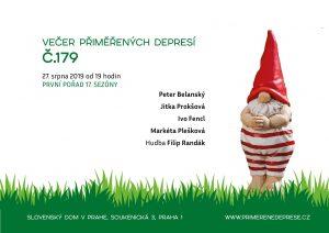 Večer přiměřených depresí č.179 @ Slovenský dům v Praze